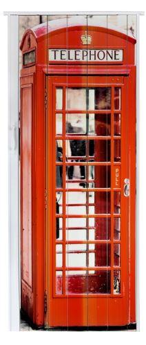 Shrnovací dveře plastové plné s potiskem Telefonní budka