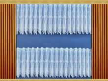 VERATEX Záclona Kytice výška 80 cm (bílá)