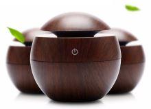Hütermann Y01 aroma difuzér  130ml  tmavé dřevo - ultrazvukový, USB
