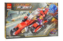 Stavebnice 0642, 350 dílků Future Police - RED Pioneer - 0642