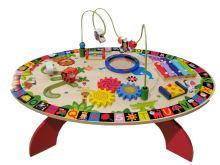 Velký dřevěný stůl, vzdělávací  hrací stůl 7v1