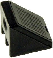 Plastový rožek s krytkou ke spojení polic a nábytku černá (4 ks.)