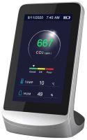 Detektor oxidu uhličitého CO2 s pamětí, měřením teploty a vlhkosti Hütermann CO2-601, Měřič 'vydýchanosti vzduchu'