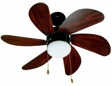 Stropní ventilátor W-VEN33185 PALAO FARO - mahagon 81 cm 6 lopatek 1xE