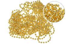 Vánoční řetěz DECORIS (10m) - Zlatý - 8711277005668