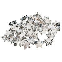Dekorační hvězdy v boxu, 48 ks, světlá, 2,5x2,5x1,, 331033